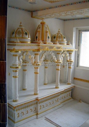 Marble handicraft exporter handicraft supplier india handicraft importer in bangalore for Marble temple designs for home